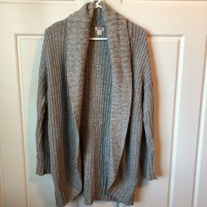MOSSIMO | Chunky knit long grey open sweater